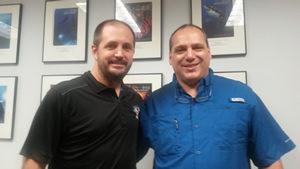 Brian Carney Presidente TDI y Guillermo Scionico Instructor Trainer TDI